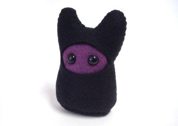 Stuffed Monster - Ninja Something - Purple and Black