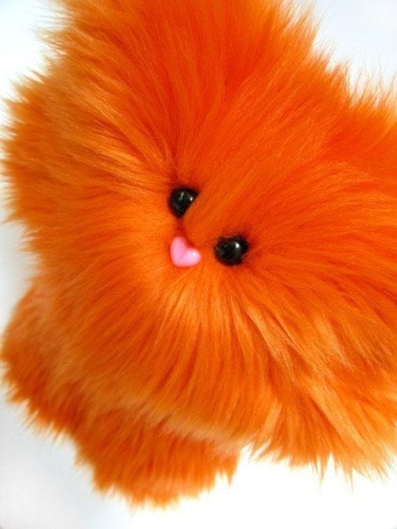 Petunia in Orange -- Huggable Plush Monster