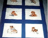 Cute Cat and Dog baby/kids quilt