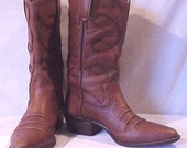 Vintage Distressed Leather Western Boots Mens 7.5 D