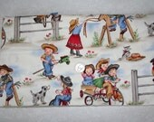 Retro Lil Cowgirl fabric by Michael Miller