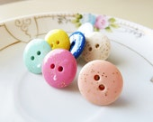Decorative Push Pins, Candy Shoppe Buttons in Glitter Pastels For Your Inspiration Board