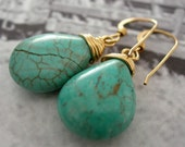Geisha-Turquoise and 14k Goldfilled Earrings