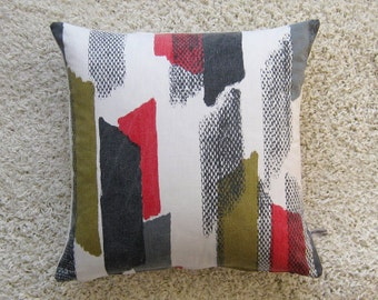 Vintage Retro 60s Cushion Pillow Vintage Cover 60s  Abstract