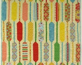Baby Quilt - Patchwork Scrappy Picket fence in bright colors - playmat, crib or stroller size