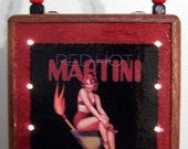 RED HOT MARTINI Cigar Box LIGHT UP Purse Sexy Cocktail