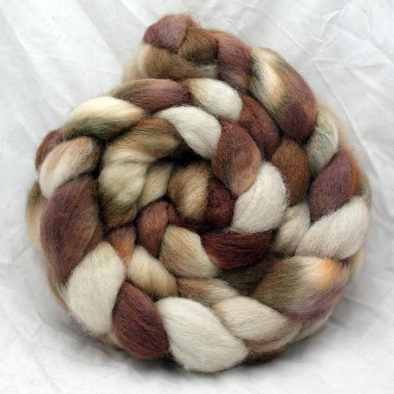Ceylon - BFL Wool Silk Roving - 4.2 oz