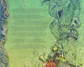 Neil Gaiman Desert Wind Limited Edition Print