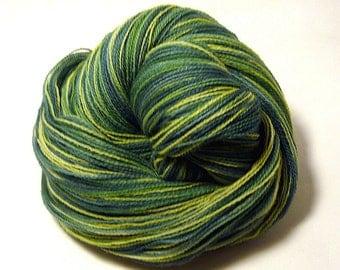 Handdyed Merino Wool Lace Yarn - Forest Greens - green, leaf, spruce, evergreen