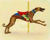 Carousel Fawn Greyhound Series Signed Print 2