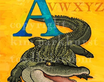 A Alligator Alphabet Print 8x10 Signed
