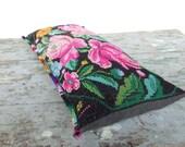 Vintage Maya Indian Textile Bolster Pillow