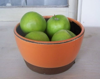Rustic Orange Bowl