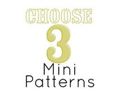 Choose Any 3 PDF Mini Embroidery Patterns