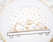 PDF Embroidery Pattern - Snowdomes of the World