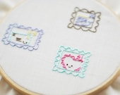 Teeny Tiny Commemoratives - Stamp Downloadable Embroidery Pattern