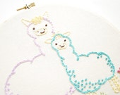 Loving Alpacas - Animal Mama and Baby Embroidery Pattern
