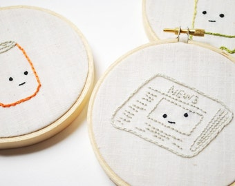 The Recyclers - Eco-Friendly Hand Embroidery Pattern