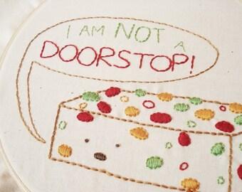 Frustrated Fruitcake - Holiday PDF Mini Embroidery Pattern