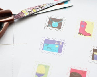 Teeny Tiny Commemoratives - Printable Mail, Stamp and Letter Kit