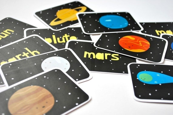 Printable Cards - The Solar System Set