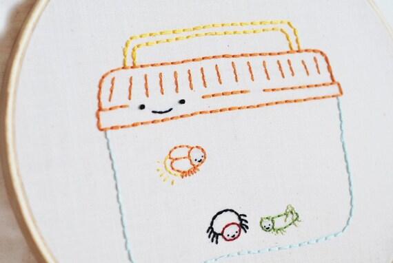 PDF Embroidery Pattern - Teeny Tiny Creepy Crawlies