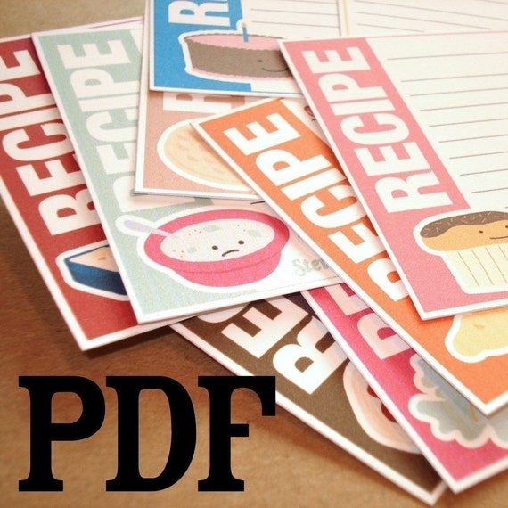 Printable 3x5 Recipe Cards - Food Friends