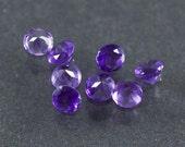 Amethyst 4mm loose gemstones. Lot of 8