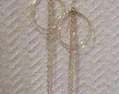 Double hoop chandelier earrings