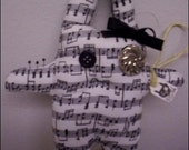 Music Note Gothic Bunny Hoodoo Voodoo Doll SALE