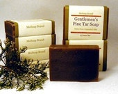 Cedarwood  Lime Pine Tar Soap : One Bar
