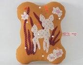 orange flower deer - pincushion
