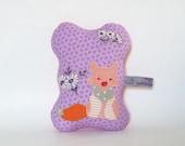 purple flower fox - pincushion