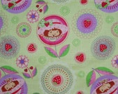 40cm Strawberry Shortcake Pale Green Floral Fabric