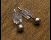 Miquela - 5mm Oxidized Sterling Silver Ball Stud Earrings