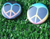 Peace Love Pinback Button Set