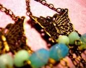 Blue Butterfly Chandeliers