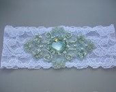 Vintage Inspired Jeweled Bridal Garter