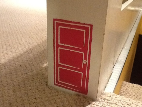Items similar to fairy door vinyl wall decal on etsy for Fairy door for wall