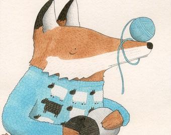 A Fox in Sheep Clothing digital giclee print