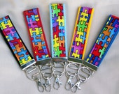 FAB FOBS For Your Keys - Autism Awareness - YOU PICK COLOR