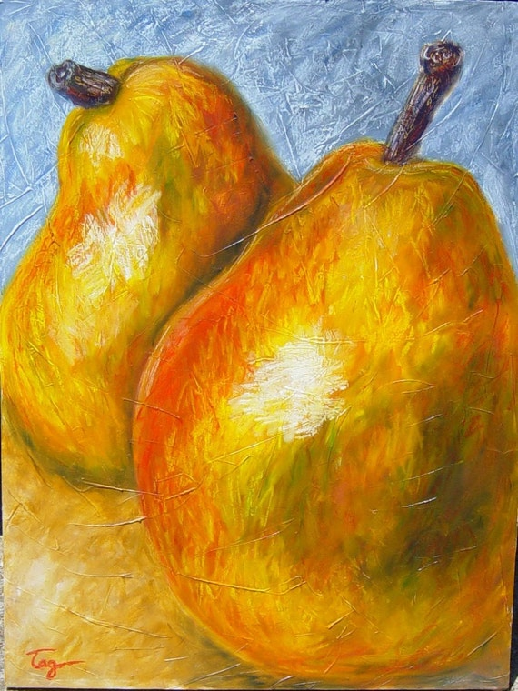 items similar to giant pear oil painting on etsy