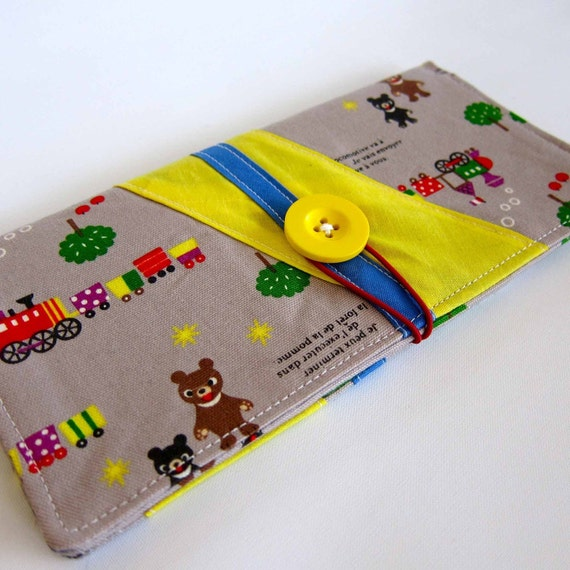 Sale - Bears and Trains Clutch Wallet