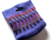 Purple Waves Felted Wool Purse
