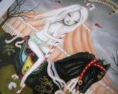 Mary At The Fairground Limited Edition Print