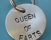 Queen of Farts dog tag