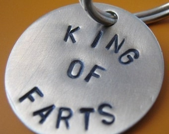 King of Farts dog tag