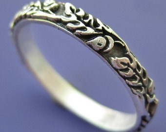 Silver Old Oak Ring
