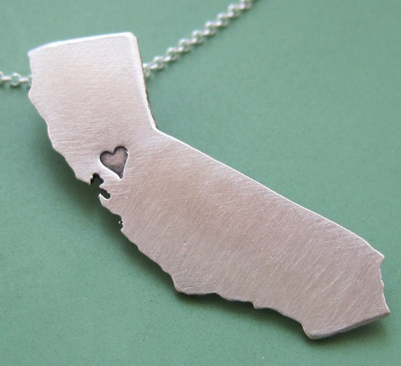 Custom State Necklace SHIPS IN 24 HOURS
