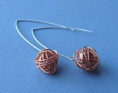 Organized Chaos- Copper wire bundle earrings